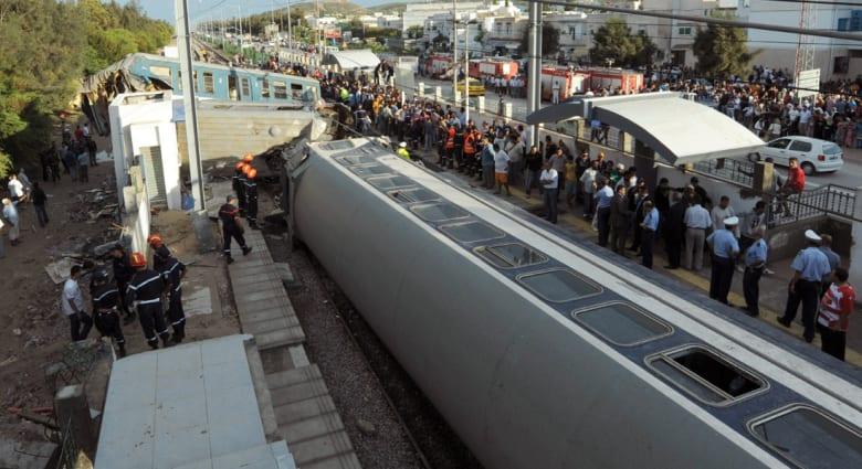تونس: مصرع 5 ركاب وإصابة 60 في حادث خروج قطار عن مساره