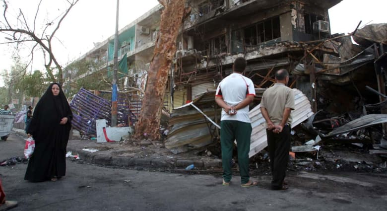 """مقتل 12 شخصاً واصابة العشرات بانفجار """"مفخختين"""" بأحياء شيعية في بغداد"""