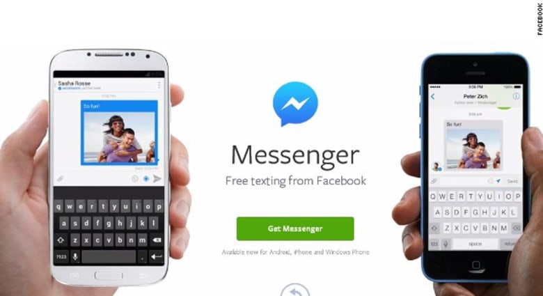 """""""فيسبوك"""" تلزم المشتركين بتحميل تطبيق """"فيسبوك ماسنجر"""" لمواصلة الدردشة"""