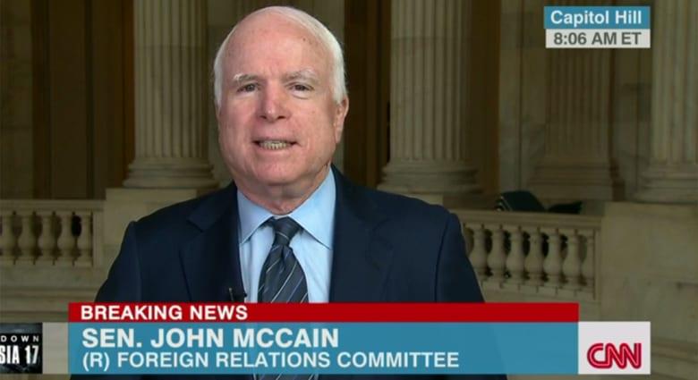 """ماكين لـCNN: غارات أوباما على داعش غير كافية وعلينا تسليح الأكراد والجيش الحر.. """"البغدادي"""" هدد نيويورك"""