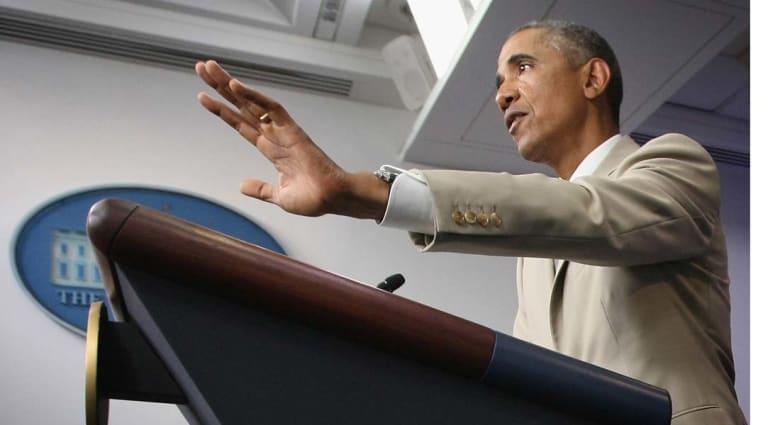 """أوباما: لن يهزم """"داعش"""" بالعراق طرف خارجي وليس لدينا استراتيجية لهزيمته بسوريا"""