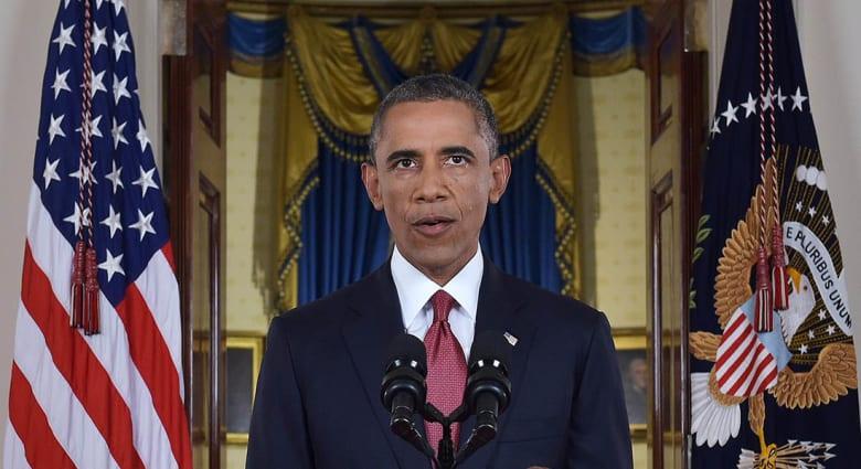 أوباما يتعهد بتدمير داعش: التنظيم غير إسلامي ونعتمد على الأكراد والعراقيين والمعارضة السورية.. ولا مكان للأسد