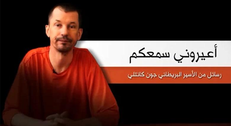 """فيديو لـ""""داعش"""" يظهر رهينة بريطانياً يوجه انتقادات حادة لإدارتي أوباما وكاميرون"""