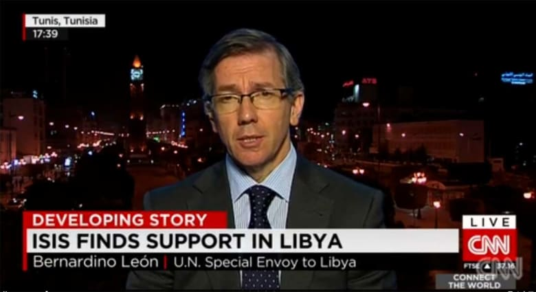 مبعوث الأمم المتحدة الخاص إلى ليبيا لـCNN: الوقت ينفذ من الليبيين.. وأعداد الموالين لداعش بدرنة سيشكل مشكلة أكبر مع مرور الوقت