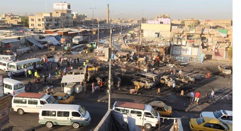 """تبناها """"داعش"""".. 21 قتيلا في تفجير مفخختين بمدينة الصدر و 17 في رسالة انتحارية للأكراد في كركوك"""