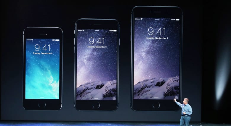 شركة أبل تكشف عن هاتفين جديدين أي فون6 وأي فون6 بلس