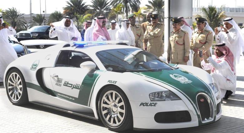 """""""بوغاتي فيرون"""".. تنضم لأسطول دوريات شرطة دبي"""