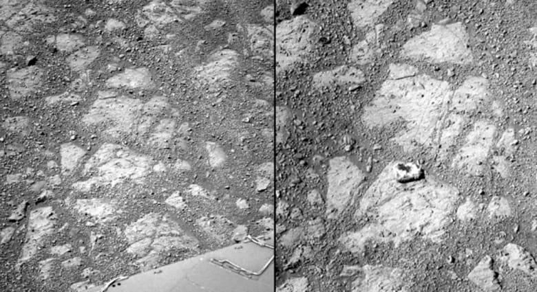 """الصخرة """"اللغز"""" على سطح المريخ تحير علماء ناسا"""