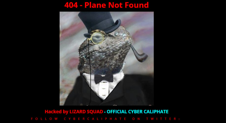 """ماليزيا: """"قراصنة الخلافة"""" يقتحمون موقع الطيران الماليزي بصورة سحلية وينشرون رسائل دعم لداعش"""