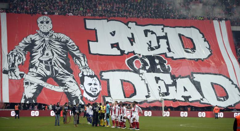 أنصار نادي لييج البلجيكي يستلهمون استفزاز المنافس من أساليب داعش