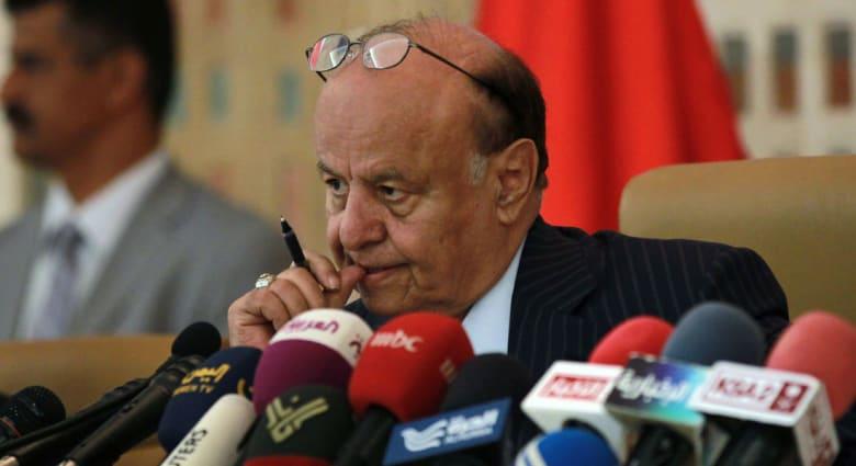 """بأول خطاب من عدن.. هادي يتعهد برفع العلم اليمني بدلاً من الإيراني في معقل الحوثيين بـ""""صعدة"""""""