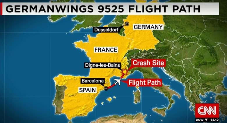 """كل ما يمكن أن تعرفه عن كارثة الرحلة 9525.. أقلعت من برشلونة وهوت في """"آلب"""" فرنسا"""