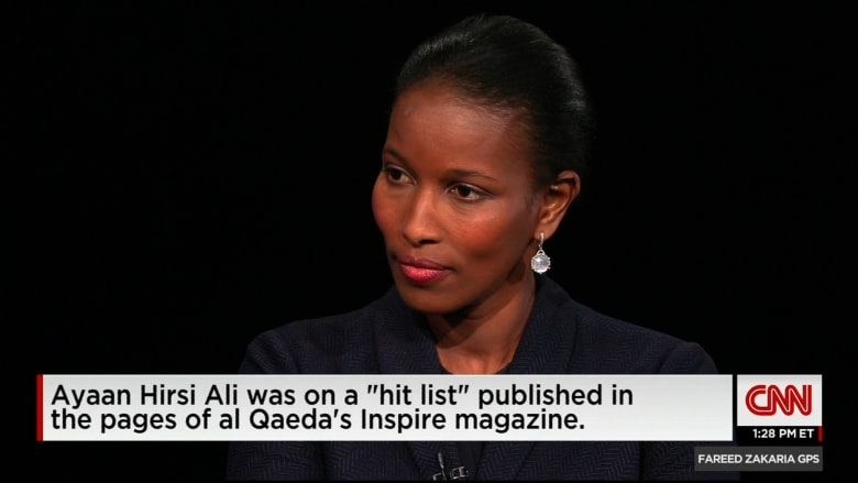 هيرسي علي تواصل انتقاداتها للفكر الديني الإسلامي: معظم القتلى بالعالم اليوم من المسلمين بسبب حروبهم