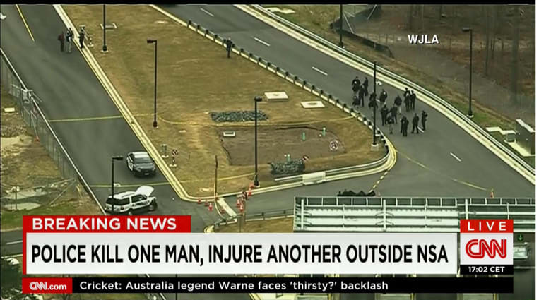 الشرطة الأمريكية تقتل شخصا وتصيب آخر خلال محاولة صدم بوابة وكالة الأمن القومي في مريلاند