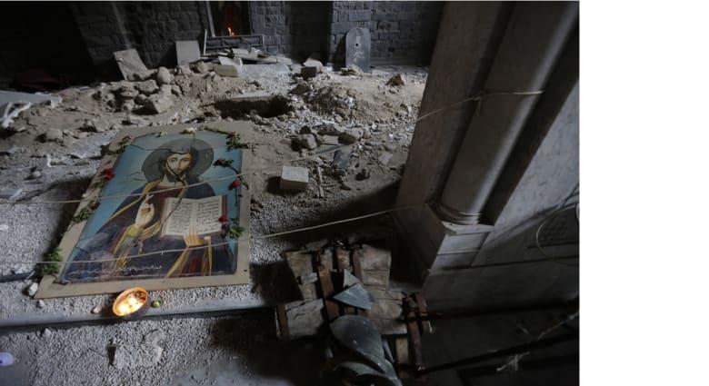 """""""داعش"""" يفجر كنيسة بريف الحسكة بالتزامن مع أعياد الفصح"""