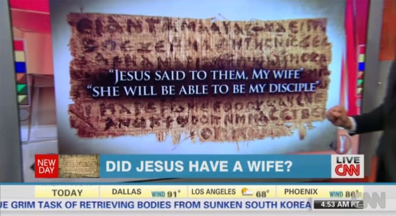 """وثيقة قبطية قديمة جاء فيها """"المسيح قال لهم: زوجتي..."""" فهل هذا دليل على زواجه؟"""