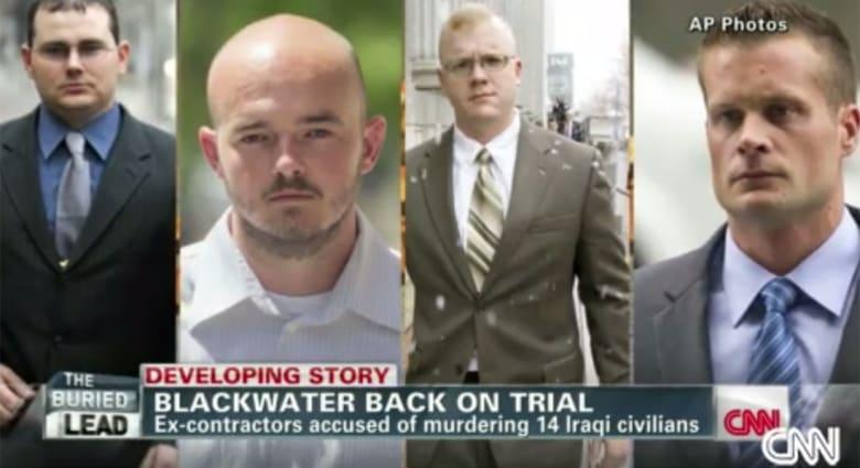 """أمريكا: المؤبد لعنصر من بلاكووتر والسجن 30 عاما لـ3 آخرين لقتلهم 17 عراقيا بـ""""ساحة النسور"""""""