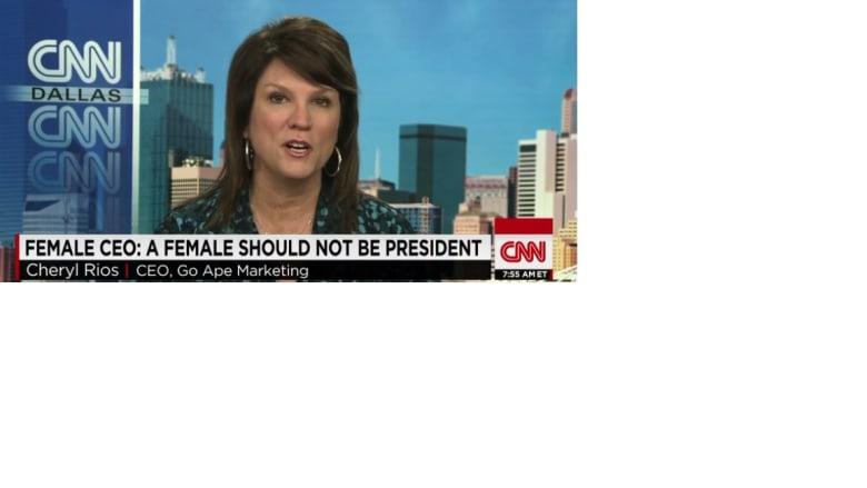 بعد ترشح هيلاري .. سيدة أعمال أمريكية تؤكد : لا..  لرئاسة المرأة لأسباب بيولوجية ودينية