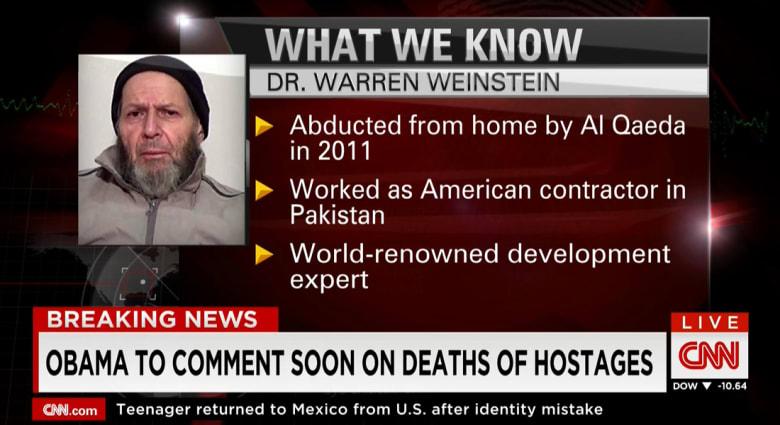 أمريكا: عملية لمكافحة الإرهاب قتلت رهينتين بالخطأ في يناير كانتا بقبضة القاعدة بين أفغانستان وباكستان