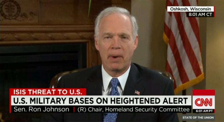 بعد رفع حالة الاستعداد بالقواعد الأمريكية.. سيناتور لـCNN: أمريكا بالتأكيد معرضة لتهديد داعش