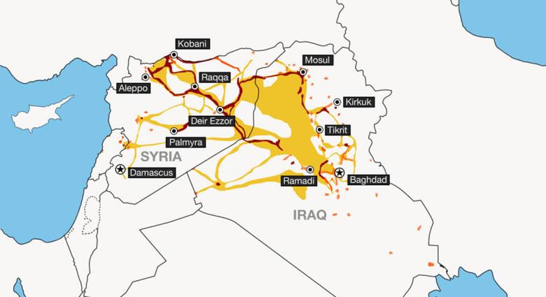 """بسقوط """"تدمر"""" ومعبر """"التنف"""" الحدودي مع العراق.. """"داعش"""" يسيطر على أكثر من نصف سوريا"""