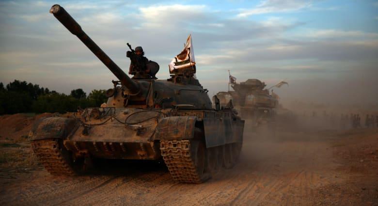"""المرصد: """"داعش"""" يسقط مروحية بمطار كويرس العسكري.. ومصرع 261 من القوات الموالية للنظام بشهر في جسر الشغور"""