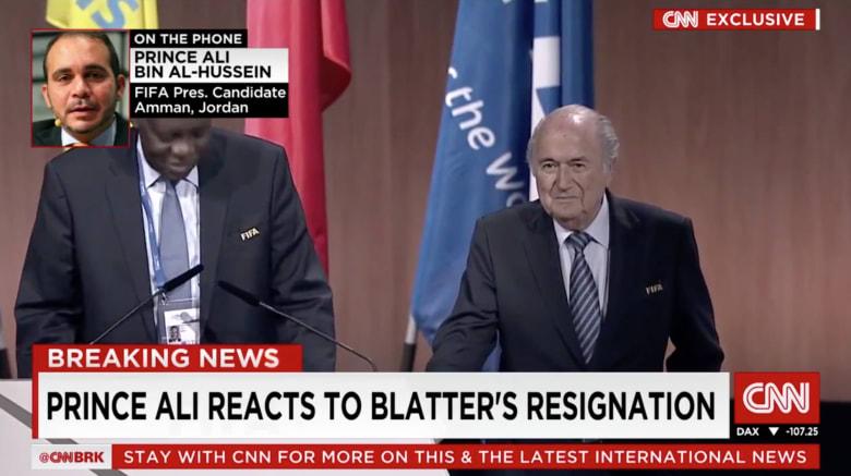 بالفيديو..  الأمير علي بن الحسين: سأتشاور مع الاتحادات الوطنية حول الترشح لخلافة بلاتر واذا طلبوا ذلك سأترشح