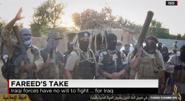 زكريا لـCNN: العراق إنهار.. لا أحد يقاتل من أجل الدولة.. فالأكراد يقاتلون لكردستان والشيعة والسنة لمناطقهم وداعش لأفكاره