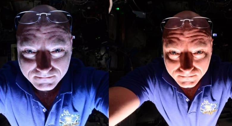"""""""سيلفي"""" من الفضاء بانعكاس صحراء أفريقيا والبحر المتوسط"""