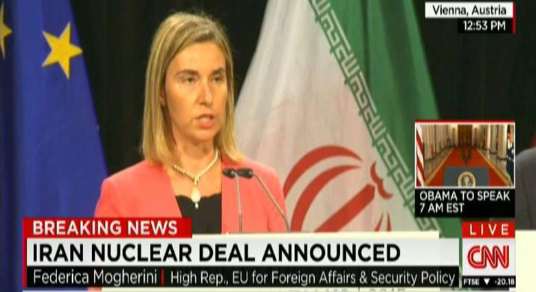 اتفاق إيران النووي.. موغريني: الاتفاق ينص على أن طهران لن تسعى أو تطور أو تحصل على سلاح نووي مهما كانت الظروف