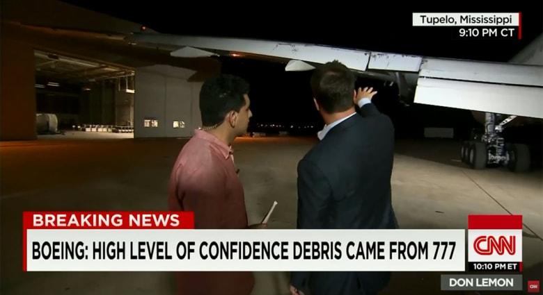 لغز اختفاء الماليزية MH370.. جزء صغير من جناح وخبير يبين لـCNN كيفية الاستدلال على كونه من طائرة من طراز بوينغ 777