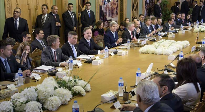"""واشنطن تستأنف """"الحوار الاستراتيجي"""" مع القاهرة.. وكيري: مصر مركز العالم العربي"""