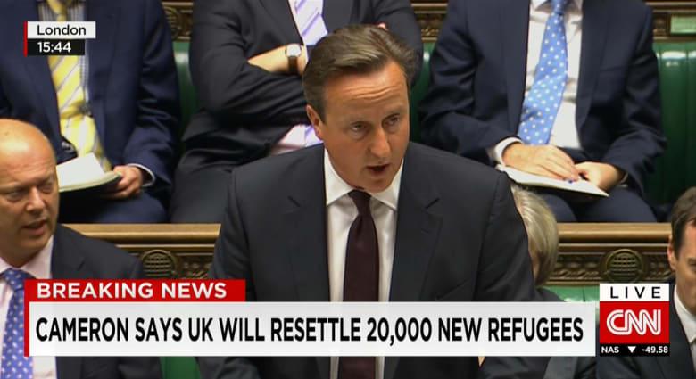 كاميرون: بريطانيا ستستقبل 20 ألف لاجئ سوري على مدى 5 سنوات.. وغارة جوية قتلت عنصرا بريطانيا بداعش في سوريا