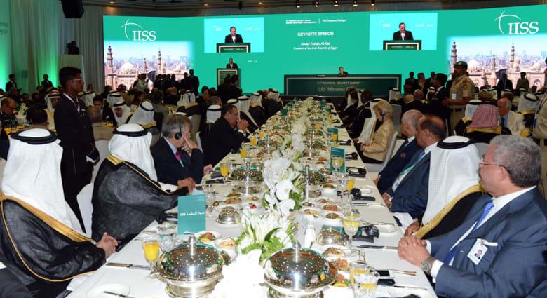 """السيسي في """"منتدى المنامة"""": النزعات الطائفية تكسر سيادة القانون في بعض الدول العربية"""