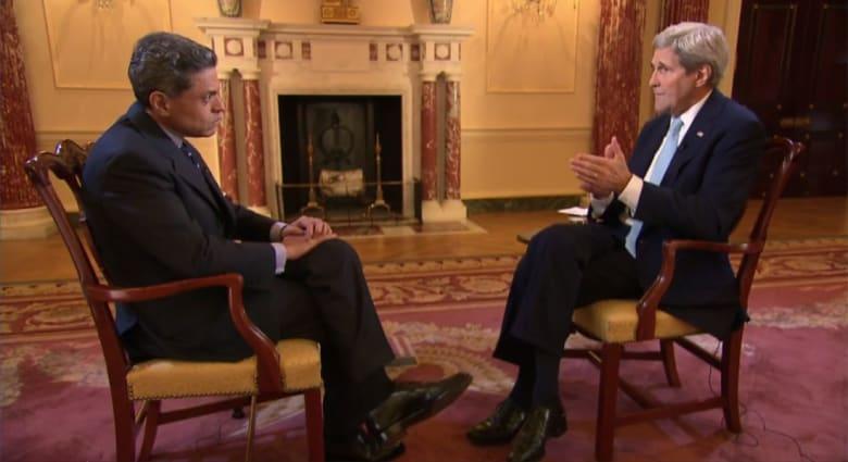 كيري لـCNN: دعم استقرار الأردن ولبنان والعمل مع تركيا كان ضمن استراتيجيتنا ضد داعش.. وسنجار ستحرر قريبا