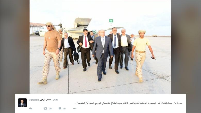 الرحبي لـCNN: هادي وصل عدن فجر الثلاثاء.. معارك تحرير تعز ولقاء قادة الميدان على رأس جدوله