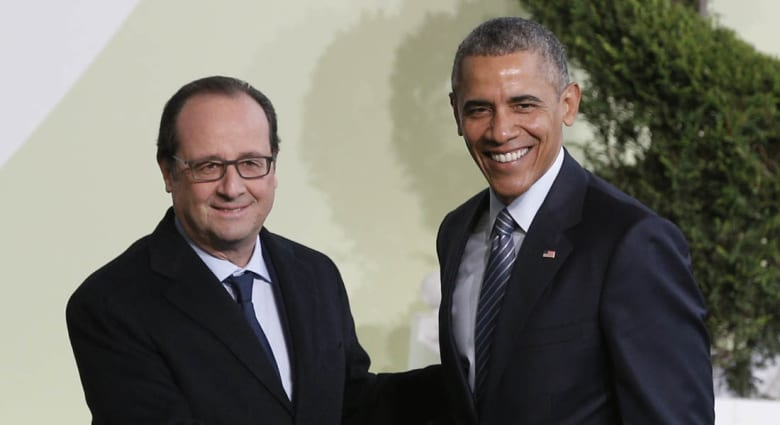 قمة المناخ بباريس.. هولاند يربط بين الحرب على الإرهاب والاحتباس الحراري.. وأوباما: القمة رفض للإرهاب