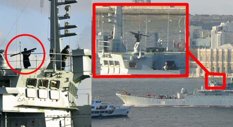 """موسكو ترد على توجيه جندي روسي لقاذفته صوب إسطنبول خلال عبور بارجته بـ""""البوسفور"""": حماية السفينة حق شرعي"""