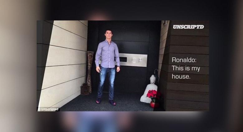 """بالفيديو.. كريستيانو رونالدو يكشف عن منزله """"الفاخر"""" في مدريد"""