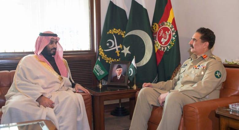 قائد الجيش الباكستاني: سنرد بقوة على أي تهديد للسعودية.. ومحمد بن سلمان: علاقتنا تخدم قضايا أمتنا الإسلامية