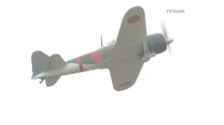 """شاهد.. مقاتلة """"زيرو"""" تحلق لأول مرة فوق اليابان منذ الحرب العالمية الثانية"""