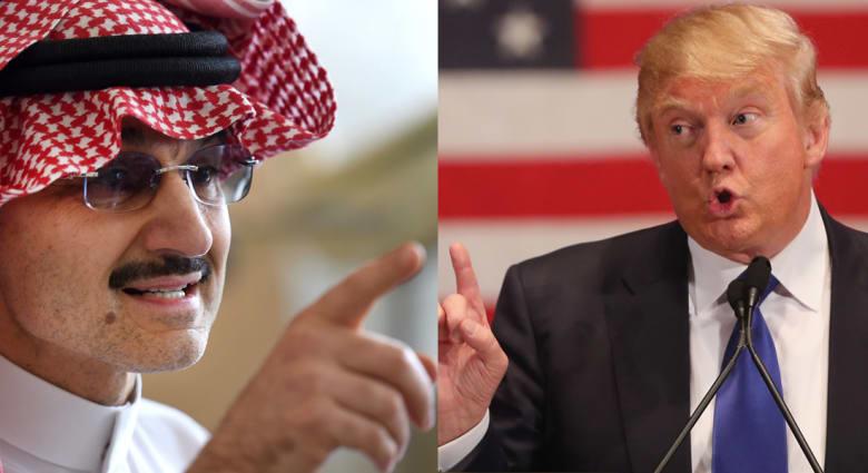 بعد الصورة المفبركة للأمير مع صحفية أمريكية.. الوليد بن طلال يرد على ترامب