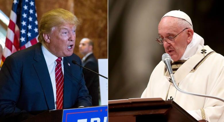 المهاجرون يشعلون الخلاف بين البابا فرنسيس وترامب