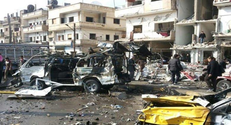 سوريا: مقتل 25 بتفجير مزدوج بمنطقة الزهراء في حمص