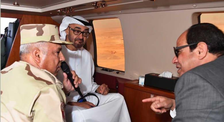 """الإمارات تدعم مصر بـ 4 مليارات دولار.. والسيسي وولي عهد أبوظبي يتفقدان """"تجمع محمد بن زايد"""""""