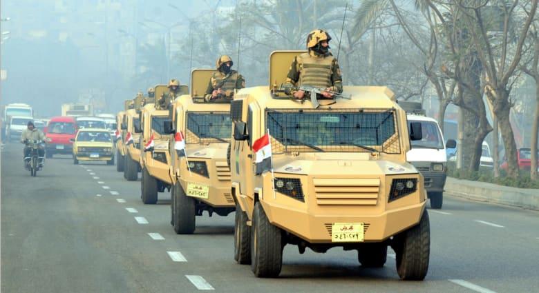 """الجيش المصري ينشر قواته """"للاحتفال والتأمين"""" قبل 25 أبريل.. والداخلية تحذر من تجاوز القانون"""