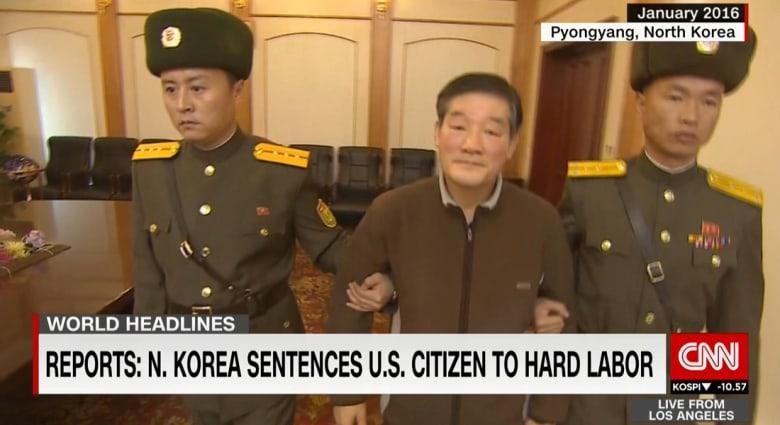 """كوريا الشمالية تحكم بالسجن 10 أعوام مع الأشغال الشاقة على أمريكي اتهم بـ""""التجسس"""""""