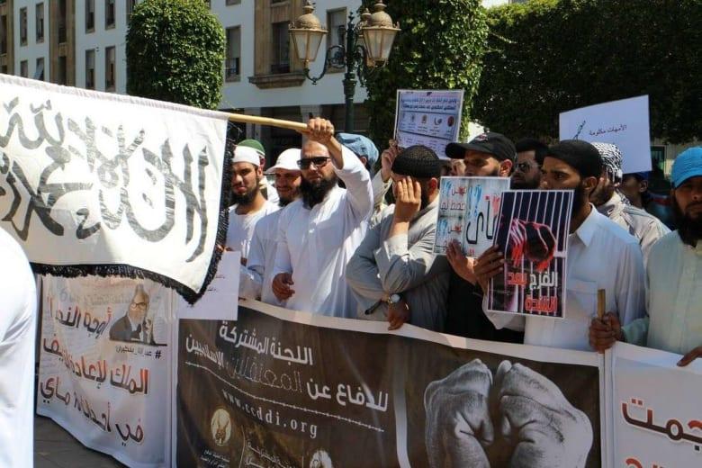 سلفيون يحتجون في المغرب للمطالبة بإطلاق سراح معتقلي تفجيرات 2003