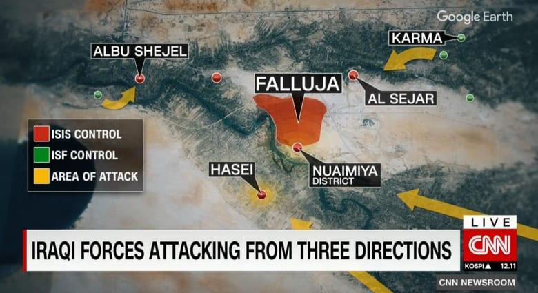 محلل لـCNN: استعادة الفلوجة من داعش لن يحل المشكلة.. ولا يوجد نظام سياسي بالعراق يعتبر شرعيا بنظر السنة