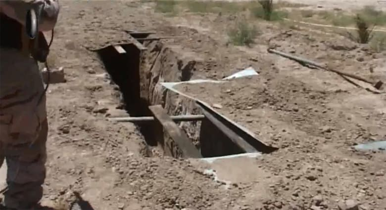 بالفيديو.. تدمير خنادق يستخدمها داعش لفك الحصار حول الفلوجة